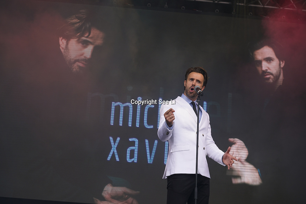 London, Trafalgar Square London,UK,19th June 2016, Michael Xavier on stage at West End Live in Trafalgar Square, London. Photo by See Li
