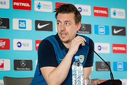 Matjaz Krajnik during Press conference and official training of Slovenian national football team before friendly match against Belarus, on March 26, 2018 in National Football Centre, Brdo pri Kranju, Kranj, Slovenia. Photo by Ziga Zupan / Sportida