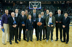 Basketball legends of Cibona at second semifinal match of League NLB Final Four tournament  between KK Cibona Zagreb and KK Union Olimpija Ljubljana, on April 23, 2010, in Arena Zagreb, Zagreb, Croatia. (Photo by Vid Ponikvar / Sportida)