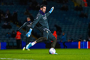 Leeds United goalkeeper Kiko Casilla (13) warming up during the EFL Sky Bet Championship match between Leeds United and Hull City at Elland Road, Leeds, England on 10 December 2019.