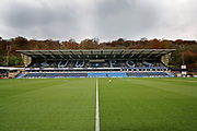 A general view of Adams Park before the EFL Sky Bet League 1 match between Wycombe Wanderers and Peterborough United at Adams Park, High Wycombe, England on 3 November 2018.