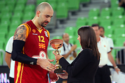Pero Antic of Macedonia and at friendly match between Macedonia and Montenegro for Adecco Cup 2011 as part of exhibition games before European Championship Lithuania on August 9, 2011, in SRC Stozice, Ljubljana, Slovenia. (Photo by Urban Urbanc / Sportida)