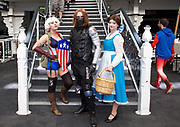 London Super Comic Con<br /> at Design Centre Islington, London, Great Britain <br /> 25th August 2017 <br /> <br /> General views <br /> and delegates in cos play costumes <br /> <br /> Puddy Geek <br /> <br /> Ash Lewis <br /> <br /> Holly Bubbles <br /> <br /> <br /> London Super Comic Con plays host to the latest comics, comic related memorabilia, superheroes and graphic novels fans have a chance to interact with their favourite creators, and  exhibitors showcasing items from comics to Cosplay, original art to toys.<br /> <br /> <br /> <br /> <br /> <br /> <br /> Photograph by Elliott Franks <br /> Image licensed to Elliott Franks Photography Services