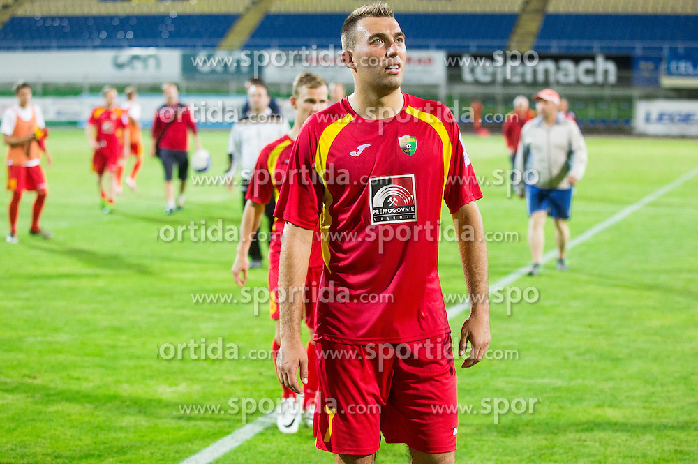 Ivan Firer #7 of Rudar after the football match between NK Rudar Velenje and KF Laci (Albania) in 1st Round of UEFA Europa League Qualifications on July 3, 2014 in Arena Petrol, Celje, Slovenia. Photo By Vid Ponikvar / Sportida