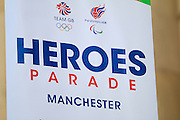 Heroes Parade during the Manchester Olympic Parade in Manchester, United Kingdom on 17 October 2016. Photo by Richard Holmes.