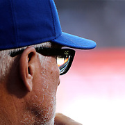 NEW YORK, NEW YORK - June 30: Manger Joe Maddon #70 of the Chicago Cubs during the Chicago Cubs Vs New York Mets regular season MLB game at Citi Field on June 30, 2016 in New York City. (Photo by Tim Clayton/Corbis via Getty Images)