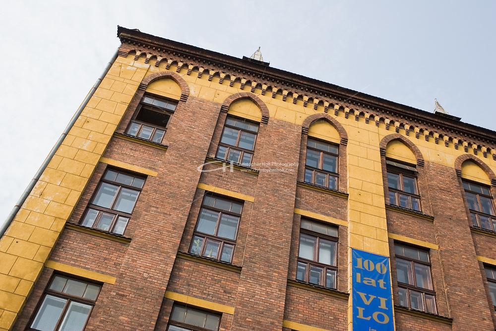 building facade in Kazimierz Krakow Poland