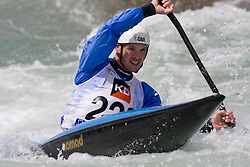 Campbell Walsh of Great Britain competes in the Men's Kayak K1 at Kayak & Canoe ICF slalom race Tacen 2010 on May 16, 2010 in Tacen, Ljubljana, Slovenia. (Photo by Vid Ponikvar / Sportida)