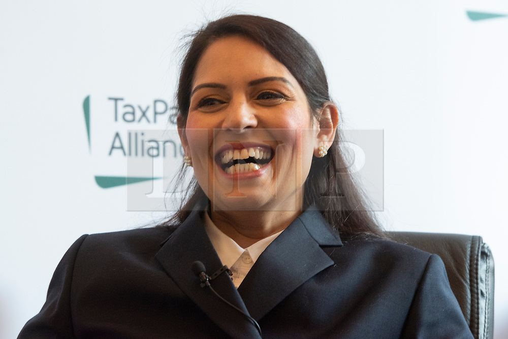 © Licensed to London News Pictures. 18/03/2019. London, UK. Former secretary of state Priti Patel attends the ,launch of the TaxPayers Alliance launch of new paper on foreign aid analysing Britain's international development system. Photo credit: Ray Tang/LNP