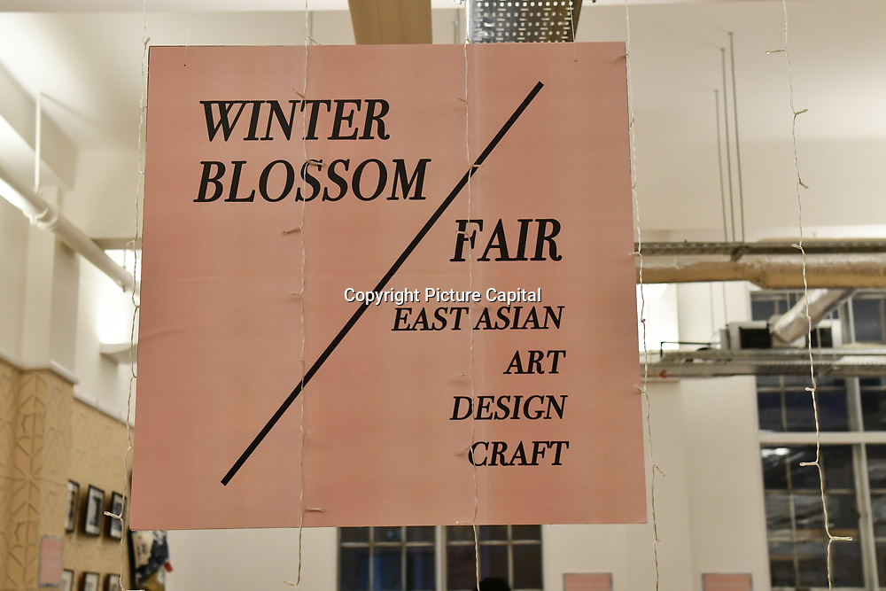 Winter blossom fair: A celebration of east asian art, craft and design exhibition at China Exchange on 10 November 2018, London, UK.