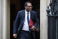 London, UK. 7 January, 2020. Kwasi Kwarteng, Minister of State, leaves 10 Downing Street following a Cabinet meeting.