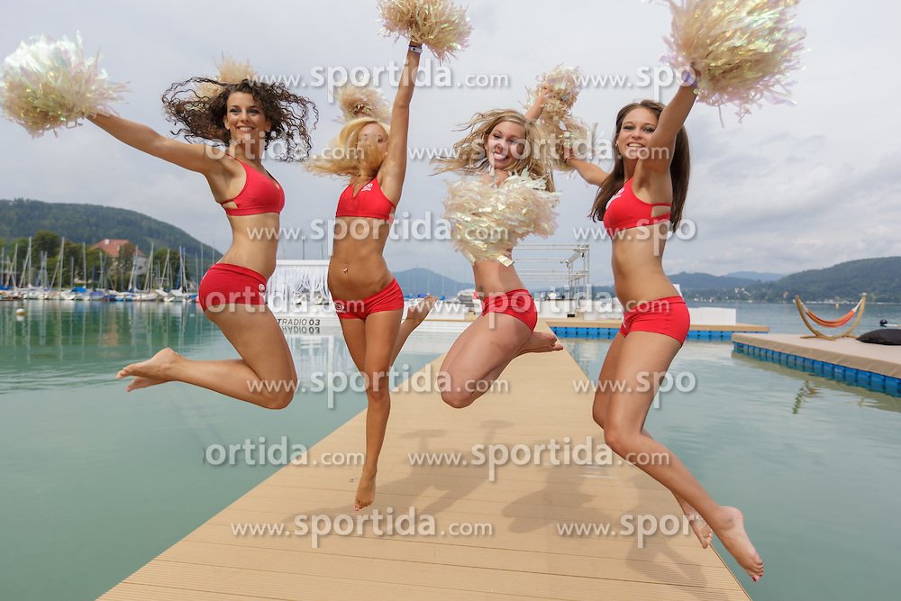 29.07.2014, Klagenfurt, Strandbad, AUT, A1 Beachvolleyball Grand Slam 2014, im Bild // during the A1 Beachvolleyball Grand Slam at the Strandbad Klagenfurt, Austria on 2014/07/29. EXPA Pictures © 2014, EXPA Pictures © 2014, PhotoCredit: EXPA/ Mag. Gert Steinthaler