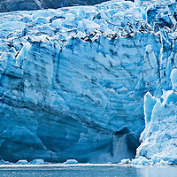 Tracy Arm fjord in Alaska is near Juneau.  Two glaciers are located at the end of Tracy Arm, the twin Sawyer glaciers, North Sawyer and South Sawyer.