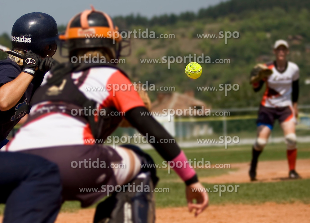 Slovenian softball fastpitch team Lisicke at European Cup women B, from August 15 - 20, 2011, in Dupnitsa, Bulgaria, (Photo by Grega Valancic / Sportida)