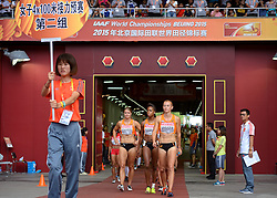 29-08-2015 CHN: IAAF World Championships Athletics day 7, Beijing<br /> Netherlands Women team at 4x100m: Dafne Schippers, Jamile Samuel, Naomi Sedney  and Nadine Visser Photo by Ronald Hoogendoorn / Sportida