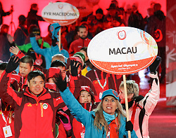 18.03.2017, Planai-Stadion, Schladming, AUT, Special Olympics 2017, Wintergames, Eröffnungsfeier, im Bild der Einmarsch der Delegation aus Macau // the delegation of Macau during the opening ceremony in the Planai Stadium at the Special Olympics World Winter Games Austria 2017 in Schladming, Austria on 2017/03/17. EXPA Pictures © 2017, PhotoCredit: EXPA / Martin Huber