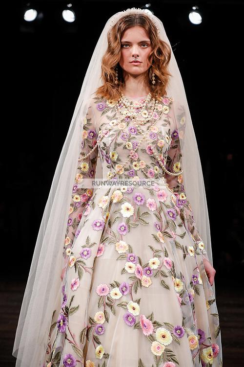 Maaike Klaasen walks the runway wearing Naeem Khan Bridal Spring 2018