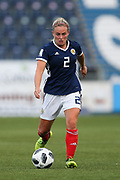 Kirsty Smith (#2) of Scotland in action during the FIFA Women's World Cup UEFA Qualifier match between Scotland Women and Belarus Women at Falkirk Stadium, Falkirk, Scotland on 7 June 2018. Picture by Craig Doyle.