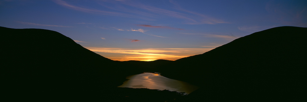Sunset over Talla Reservoir in the Parish of Tweedsmuir in the Scottish Borders