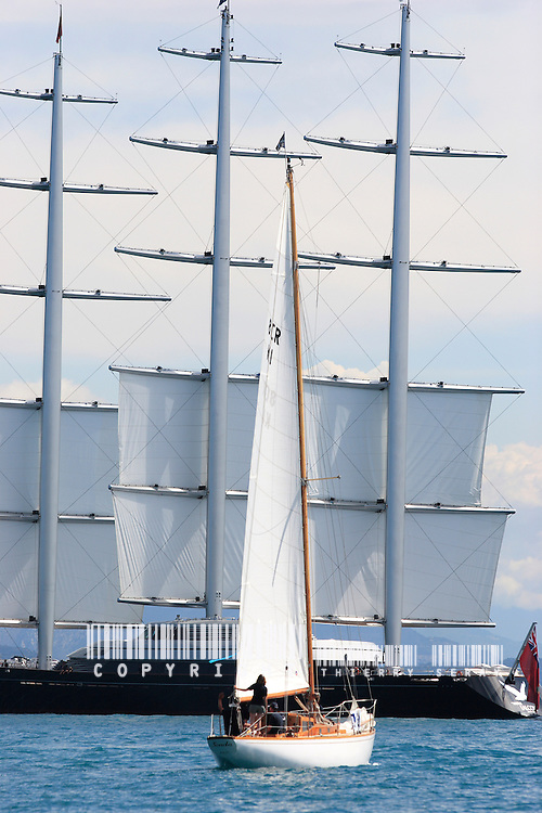 55 years of sailing history. Sonda 1955 and Maltese Falcon 2006.Voiles d'Antibes 2007.