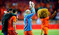 NETHERLANDS, Amsterdam Arjen Robben reacts after the gameThe Netherlands versus Northern Irland during friendly soccer match between Netherlands vs Northern Irland in Rotterdam on June 2, 2012. AFP PHOTO/ ROBIN UTRECHT