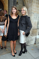 Left to right, PRINCESS FLORENCE VON PREUSSEN and OLIVIA BUCKINGHAM at the wedding of Chloe Delevingne to Louis Buckworth at St.Paul's Knightsbridge, London on 7th September 2007.<br />