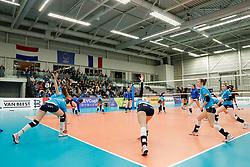 20180110 NED: CEV CUP Sliedrecht Sport - Beziers Angels VB: Sliedrecht<br />Warming up Sliedrecht Sport <br />&copy;2018-FotoHoogendoorn.nl / Pim Waslander