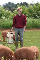 PRINCE WILLIAM WORKS ON HOME FARM, ON THE HIGHGROVE ESTATE IN GLOUCESTERSHIRE.<br />