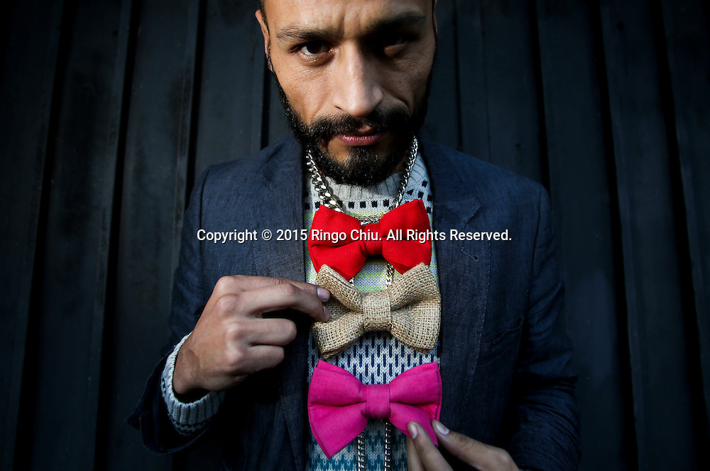 Victor Becerril, founder of bow-tie company Low Bow<br /> (Photo by Ringo Chiu/PHOTOFORMULA.com)<br /> <br /> Usage Notes: This content is intended for editorial use only. For other uses, additional clearances may be required.