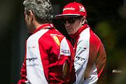 April 10-12, 2015: Chinese Grand Prix - Kimi Raikkonen (FIN), Ferrari, Maurizio Arrivabene, team principal of Scuderia Ferrari