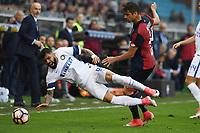 Gabriel Barbosa-Miguel Veloso<br /> Genova 07/05/2017 Stadio Luigi Ferraris - campionato di calcio serie A / Genoa-Inter / foto Image Sport/Insidefoto