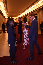October 18, 2016 - London, United Kingdom - UK OUT Image licensed to i-Images Picture Agency. 18/10/2016. London, United Kingdom. Prince Harry and Duke and Duchess of Cambridge at a reception for Team GB and ParalympicsGB medallists from the 2016 Olympic and Paralympic Games at Buckingham Palace in London. Picture by ROTA / i-Images  UK OUT (Credit Image: © Rota/i-Images via ZUMA Wire)