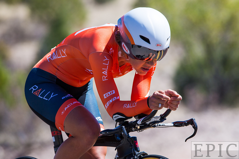 SILVERY CITY, NM - APRIL 20: Kirsti Lay (Rally Cycling) during stage 3 of the Tour of The Gila on April 20, 2018 in Silver City, New Mexico. (Photo by Jonathan Devich/Epicimages.us)