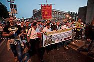 Roma 12 Maggio 2012.Fiaccolata di solidarietà in favore dei due marò Massimiliano Latorre e Salvatore Girone detenuti in India da tre mesi.Il senatore del Pdl Domenico Gramazio