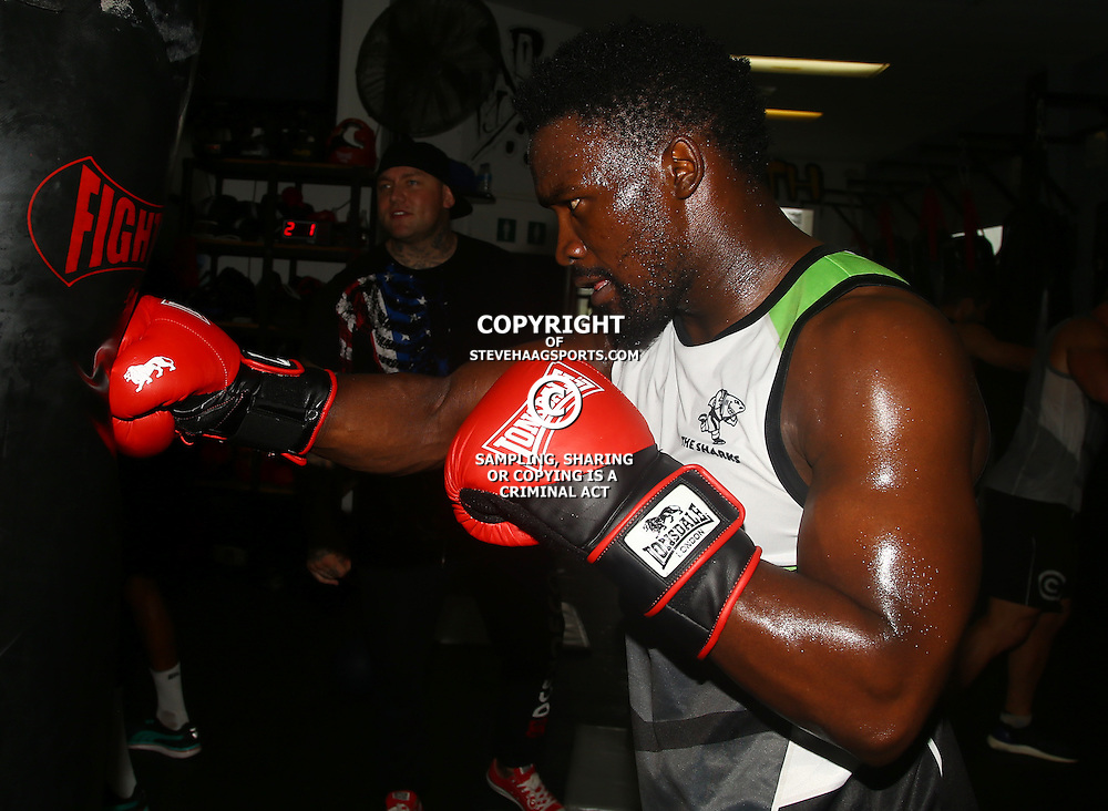 DURBAN, SOUTH AFRICA - JANUARY 16: Lwazi Mvovo during the Cell C Sharks boxing session at Domination on January 16, 2017 in Durban, South Africa. (Photo by Steve Haag/Gallo Images)