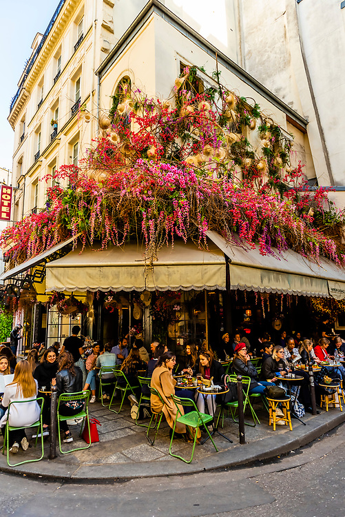 Restaurant Maison Sauvage in the St. Germain des Pres neighborhood, Left Bank, Paris, France.