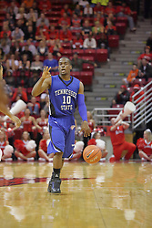 17 November 2010: Wil Peters during an NCAA basketball game between the Tennessee State Tigers and the Illinois State Redbirds at Redbird Arena in Normal Illinois.