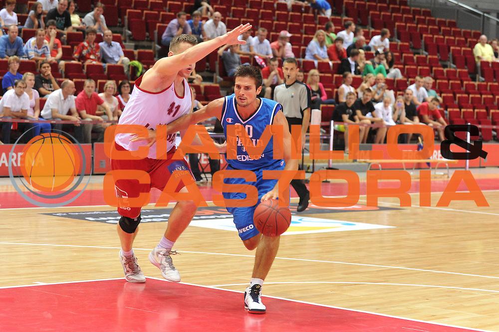 DESCRIZIONE : DANZICA POLONIA TORNEO INTERNAZIONALE SOPOT BASKET CUP Lettonia Italia<br /> GIOCATORE : andrea cinciarini<br /> CATEGORIA : palleggio<br /> SQUADRA : Nazionale Italia Maschile<br /> EVENTO : TORNEO INTERNAZIONALE SOPOT BASKET CUP<br /> GARA : Lettonia Italia<br /> DATA : 03/08/2012<br /> SPORT : Pallacanestro<br /> AUTORE : Agenzia Ciamillo-Castoria/M.Gregolin<br /> Galleria : FIP Nazionali 2012<br /> Fotonotizia :  DANZICA POLONIA TORNEO INTERNAZIONALE SOPOT BASKET CUP Lettonia Italia<br /> Predefinita :
