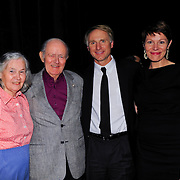 Author Dan Brown backstage with Virginia Prescott and her parents after a Writers on a New England Stage benefit show at The Music Hall in Portsmouth, NH