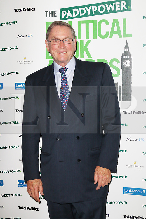 © Licensed to London News Pictures. 19/03/2014, UK. Lord Ashcroft, Political Book Awards, BFI IMAX, London UK, 19 March 2014. Photo credit : Richard Goldschmidt/Piqtured/LNP