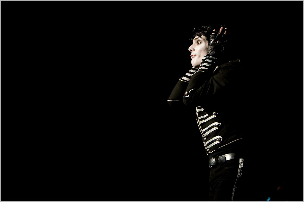 Gerard Way and My Chemical Romance perform at Montreal's Bell Center. PHOTO BY TIM SNOW