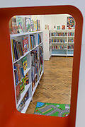 Interior of the re-opened Carnegie Library on Herne Hill in south London which has opened its doors for the first time in almost 2 years, on 15th February 2018, in London, England. Closed by Lambeth council and occupied by protesters for 10 days in 2016, the library bequeathed by US philanthropist Andrew Carnegie has been locked ever since because, say Lambeth austerity cuts are necessary. A gym that locals say they don't want or need has been installed in the listed basement and actual library space a fraction as before and it's believed no qualified librarians will be present to administer it. Protesters also believe this community building will ultimately sold off by Lambeth council for luxury homes.