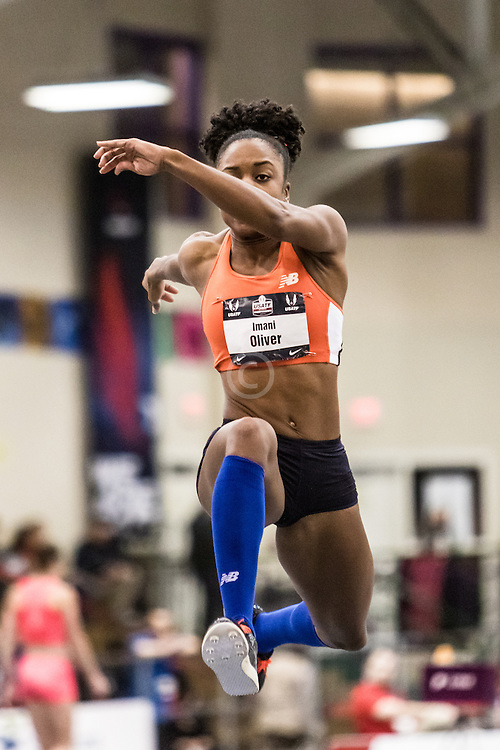 USATF Indoor Track & Field Championships: womens long jump, Imani Oliver