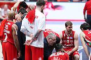 Time out Olimpia Milano, EA7 Emporio Armani Milano vs Consultinvest Pesaro, LBA serie A 14^ giornata stagione 2016/2017, Mediolanum Forum Milano 2 gennaio 2017
