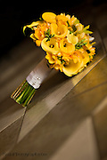 Bridal bouquet with yellow lilies at Villa Caletas Wedding / Vow Renewal Ceremony