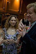 ELIZABETH SHEINKMAN AND CHRISTOPHER SYLVESTER, Launch of the new magazine 'Standpoint'. Wallace Collection. Manchester Sq. London. 28 May 2008.  *** Local Caption *** -DO NOT ARCHIVE-© Copyright Photograph by Dafydd Jones. 248 Clapham Rd. London SW9 0PZ. Tel 0207 820 0771. www.dafjones.com.