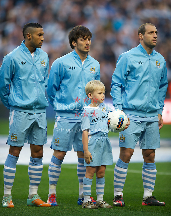 MANCHESTER, ENGLAND - Monday, April 30, 2012: Manchester City's David Silva before the Premiership match against Manchester United at the City of Manchester Stadium. (Pic by David Rawcliffe/Propaganda)