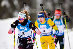 March 10, 2019 - –Stersund, Sweden - 190310 Ingrid Landmark Tandrevold of Norway during the Women's 10 km Pursuit during the IBU World Championships Biathlon on March 10, 2019 in Östersund..Photo: Petter Arvidson / BILDBYRÃ…N / kod PA / 92254 (Credit Image: © Petter Arvidson/Bildbyran via ZUMA Press)