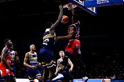 Marcus Delpeche of Bristol Flyers slam dunk - Mandatory by-line: Robbie Stephenson/JMP - 16/09/2019 - BASKETBALL - University of Worcester Arena - Worcester, England - Worcester Wolves v Bristol Flyers - Preseason Friendly