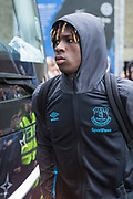 Moise Kean (Everton) arriving at the stadium ahead of the Premier League match between Brighton and Hove Albion and Everton at the American Express Community Stadium, Brighton and Hove, England on 26 October 2019.